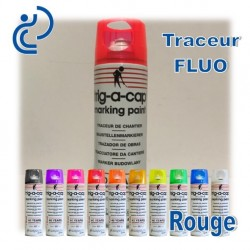 Traceur Chantier Fluo Rouge 500ml