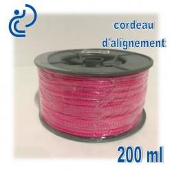 Cordeau d'alignement Fluo Rose bobine de 200ml