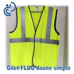 Gilet FLUO Jaune Simple