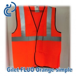 Gilet FLUO Orange Simple
