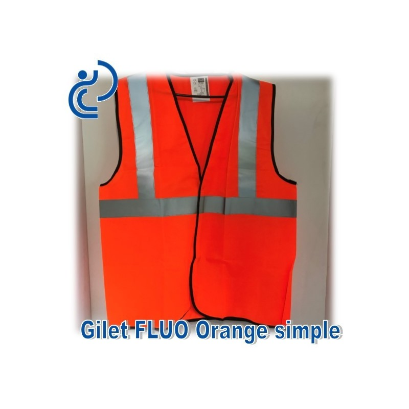 gilet fluo orange simple. Black Bedroom Furniture Sets. Home Design Ideas
