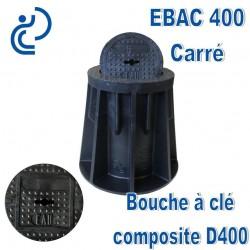 EBAC 400 Bouche à clé en matière composite Marquage Carré