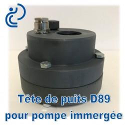 Tête de Puits en PVC pour Pompe Immergée D89