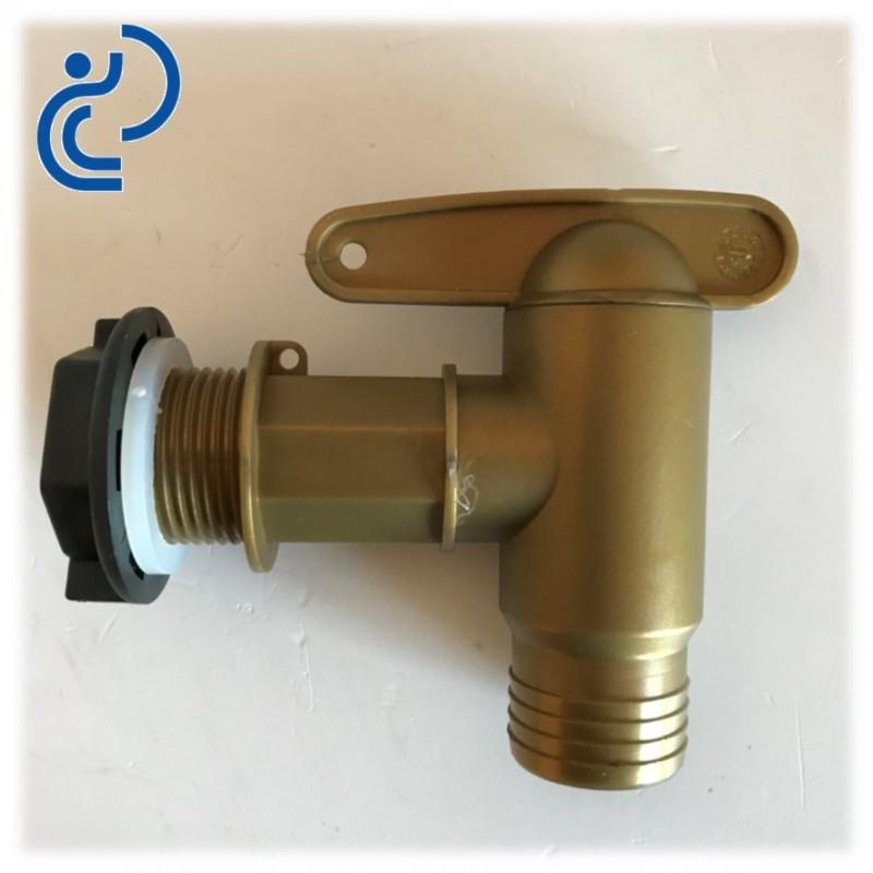 robinet pe imitation laiton 3 4 pour cuve eau de pluie. Black Bedroom Furniture Sets. Home Design Ideas