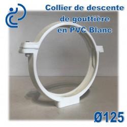 COLLIER DE GOUTTIERE PVC BLANC