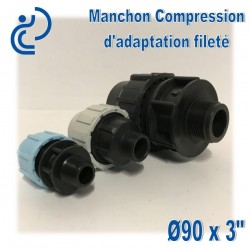 Manchon Compression d'adaptation D90 fileté 3""