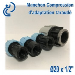 Manchon Compression d'adaptation D20 taraudé 1/2""