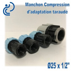 Manchon Compression d'adaptation D25 taraudé 1/2""