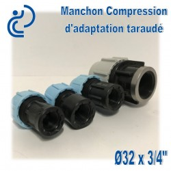 Manchon Compression d'adaptation D32 taraudé 3/4""