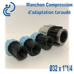 "Manchon Compression d'adaptation D32 taraudé 1""1/4"