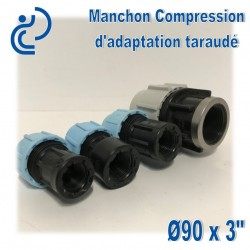 Manchon Compression d'adaptation D90 taraudé 3""