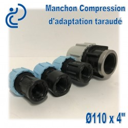 Manchon Compression d'adaptation D110 taraudé 4""