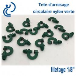 Tête d'arrosage circulaire nylon vert