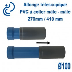 Allonge télescopique D100 Mâle-Mâle 270/410mm à coller