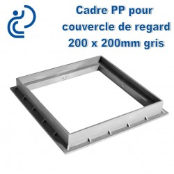 CADRE PP POUR COUVERCLE DE REGARD 20X20 GRIS