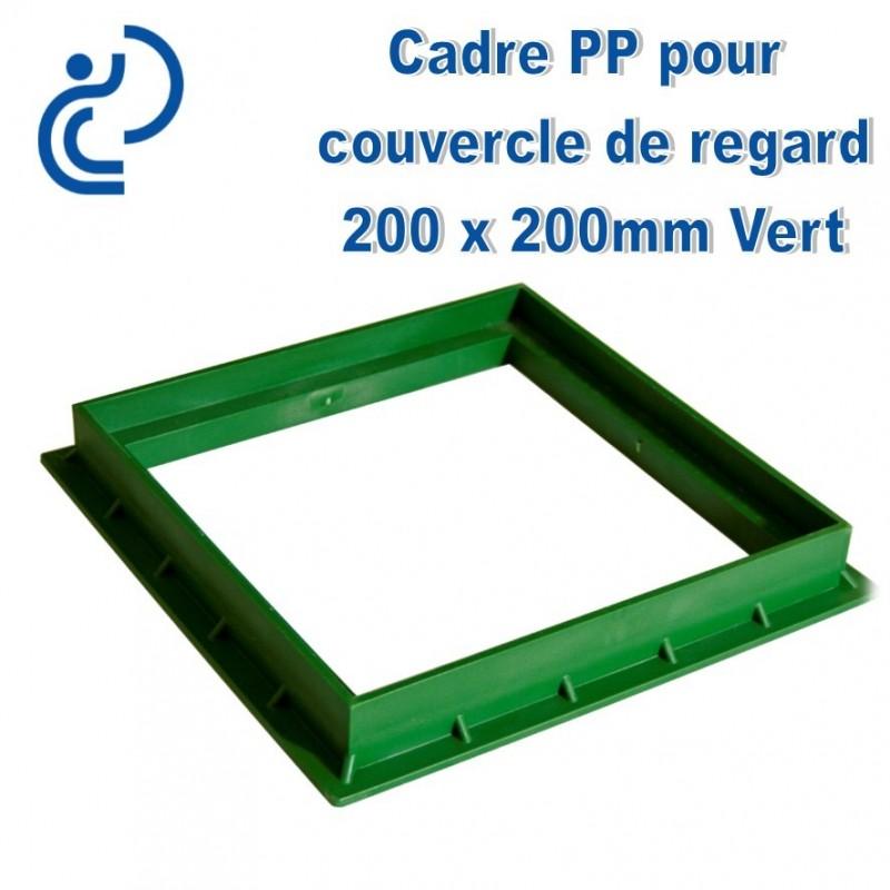 cadre pvc pour couvercle de regard 20x20 vert. Black Bedroom Furniture Sets. Home Design Ideas