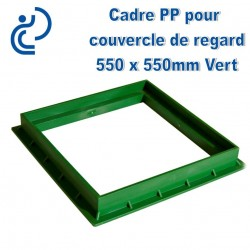 CADRE PP POUR COUVERCLE DE REGARD 55x55 vert