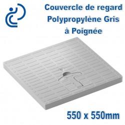 COUVERCLE DE SOL PP Gris à Poignée 55x55