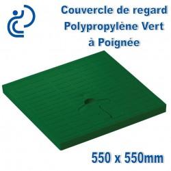 Couvercle de Sol PP Vert à Poignée 55x55