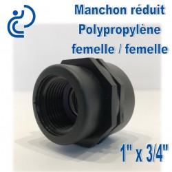"MANCHON REDUIT PP FF 1""x3/4"""