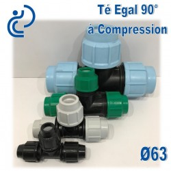 TE Egal 90° à Compression D63