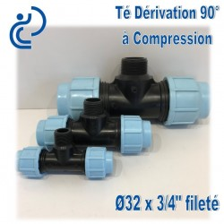 TE dérivation 90° à Compression fileté D32x3/4""