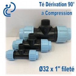 TE dérivation 90° à Compression fileté D32x1""