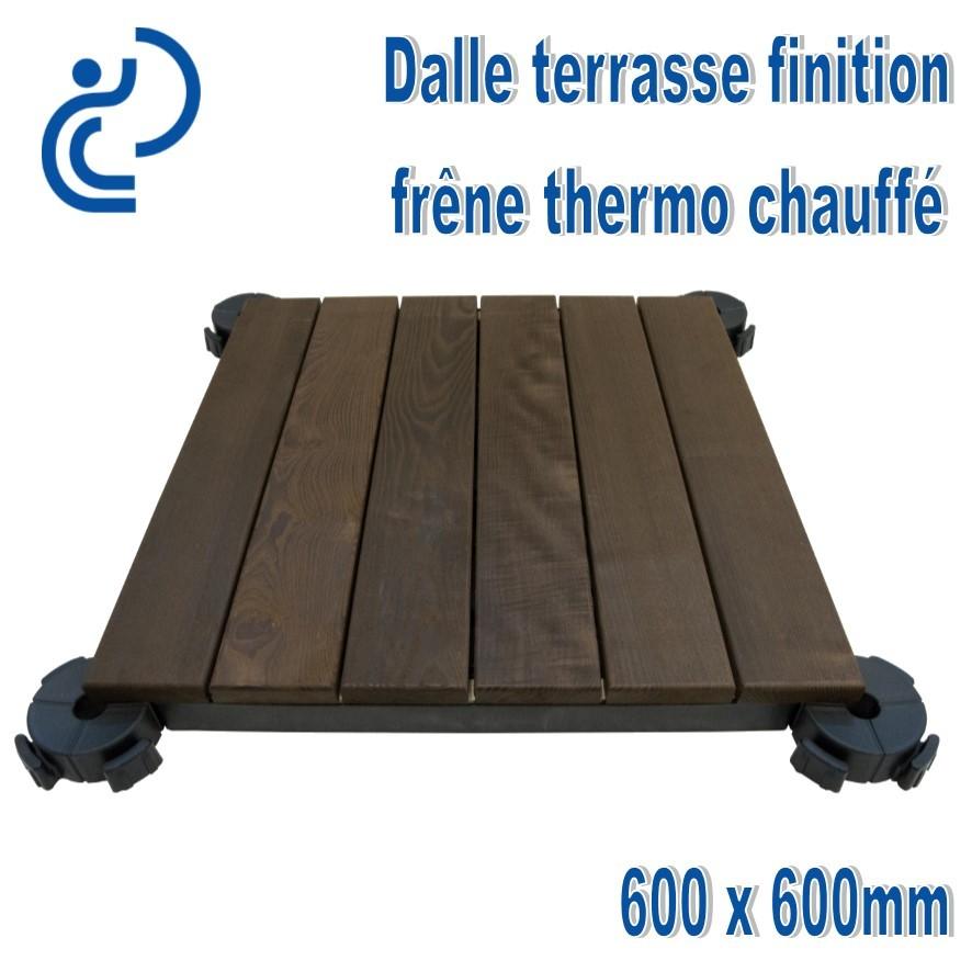 Dalles De Terrasse 600x600 Finition En Frêne Thermo Chauffé