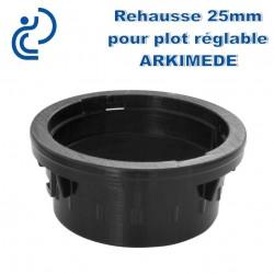 Réhausse 25mm pour plot réglable ARKIMEDE