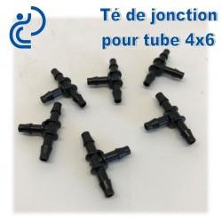 Té de Jonction pour tube 4x6mm