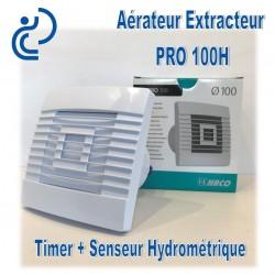 Aérateur Extracteur électrique D100 à détecteur d'humidité + timer