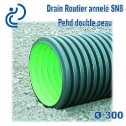 Drain routier PEHD annelé D300 barre de 6ml AQUADRAIN