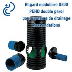 Regard Modulaire D300 SIROBAU pour Système de drainage de Fondations