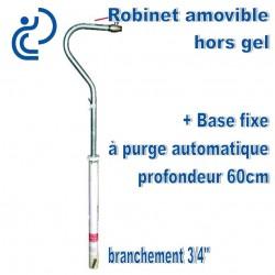Robinet Merrill hors gel amovible + base 60cm
