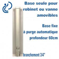 Base seule pour vanne ou robinet Amovible 60cm sous terre