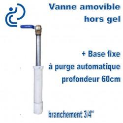 """Vanne 3/4"""" extérieure hors gel Amovible avec base 60cm sous terre"""