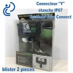 """Connecteur Etanche """"Y"""" IP67 système Easy Connect x2"""