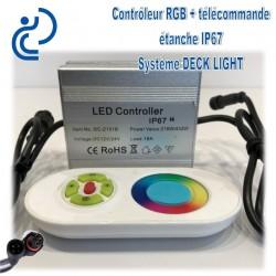 Contrôleur RGB + télécommande pour système DECK LIGHT