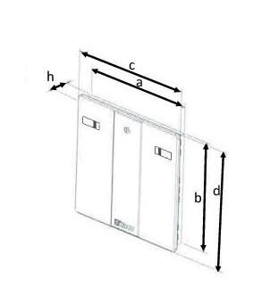 trappe de visite en pvc blanc 50x50. Black Bedroom Furniture Sets. Home Design Ideas